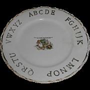 "Lovely ABC Plate ""Litlle Miss Muffet"" D. E. McNichol"
