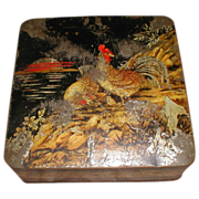 SALE Lovely 1925 British Biscuit Tin LACQUER Huntley & Palmers