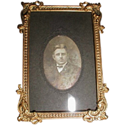 REDUCED Lovely Antique Brass Photograph Frame