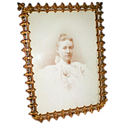 SALE Lovely Antique Brass Photograph Frame