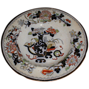 SALE Lovely Circa 1820-40 Soup Plate, Oriental Design, English Pottery