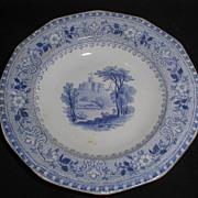Lovely Blue Transferware Child's Tea Plate