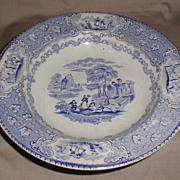 SALE Light Blue Transferware Soup Plate, ITALIAN Lakes, J. & M.P. Bell