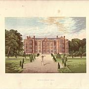 REDUCED British Ancestral Home Xylography Burton-Agnes Hall F.O. Morris