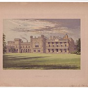 REDUCED British Ancestral Home Xylography KNOWSLEY HALL F.O. Morris