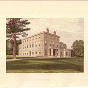REDUCED British Ancestral Home Xylography Carnanton F.O. Morris