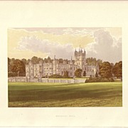 REDUCED British Ancestral Home Xylography Underley Hall F.O. Morris