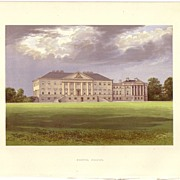 REDUCED British Ancestral Home Xylography NOSTAL PRIORY F.O. Morris