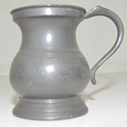 REDUCED Lovely Bulbous British Pewter Measure, ca 1880+