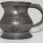 REDUCED Lovely Bulbous British Pewter Measure, ca 1824-30