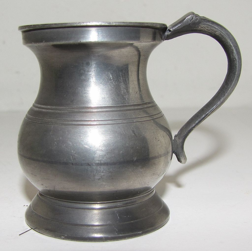 Lovely Bulbous British Pewter Measure, ca 1880+ from ...