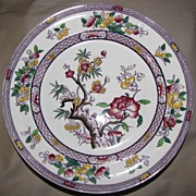 Lovely Transferware Plate, INDIAN TREE, Purple, A. Bros. 1866-90