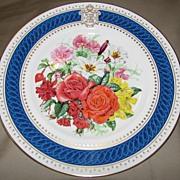 SALE Lovely Decorative Floral Plate Royal Celebration Bouquet 1986