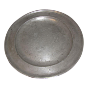 REDUCED Wonderful Circa 1725 Pewter Charger, John Watts