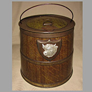 REDUCED Outstanding Early 1900's Colman's Bull's Head Mustard Tin, Barrel