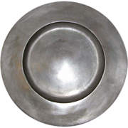 """SOLD 12"""" 18th Century Pewter Charger, LONDON SUPERFINE"""