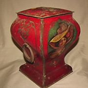 Large Early British Biscuit Tin, Art Nouveau, Unidentified