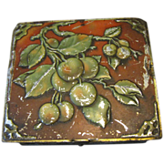 SALE Antique British Biscuit Tin, 1907, Huntley & Palmers, APPLES