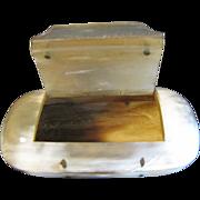 Unusual Antique Snuff Box, Horn