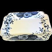 Lovely Flow Blue Platter GLADYS DaleHall Pottery, ca 1890