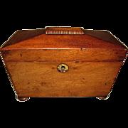 Lovely Antique Domed Mahogany English Tea Caddy