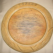 Nice Decorative and Useful Antique, Round British Bread Board