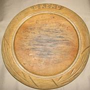 Nice Decorative and Useful Antique, Round British Bread Board