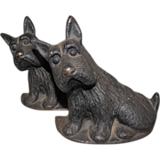 SALE Great Vintage Iron Scotty Dog Bookends