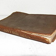"Small Leather Bound Book, ""Unto This Last"" by John Ruskin"