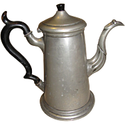 REDUCED Large 19th Century Pewter Teapot (Coffee Pot) Shaw & Fisher Sheffield