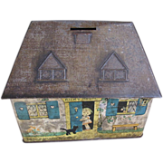 SALE Great Collectible Crawford Biscuit Tin, Bicky House Money Bank