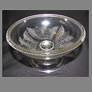 SALE Early American Pressed Glass Compote, BARBERRY