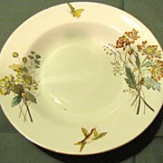 Lovely Brown Transferware Soup Bowl, DAINTY (DAISY), T & R Boote
