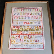 Nineteenth Century Alphabet Sampler, United Kingdom