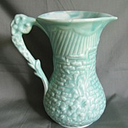 SALE PENDING Vintage Green Pottery Pitcher (Vase) Arthur Wood England
