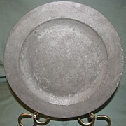REDUCED 16th Century Pewter Plate, Samuel Ellis, London