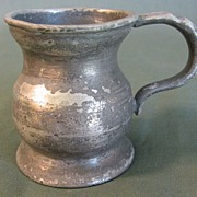 REDUCED Early British Pewter Bulbous Measure, Gaskell & Chambers Birmingham