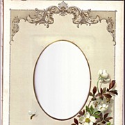 SALE Lovely Chromolithograph Page from Victorian Photograph Album, c. 1900