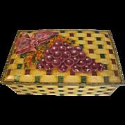 Vintage British Biscuit Tin Box, DESSERT CASKET, W. & R. Jacob & Co. , c. 1933