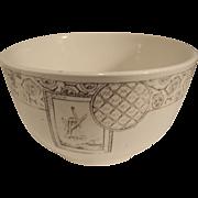 Lovely Waste Bowl, Child's Brown Transferware Tea Set, AVONA, ca 1881