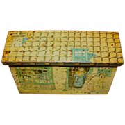 SALE Vintage Italian Biscuit Tin, Cottage Box, The Brothers Gattorno, Ca 1930