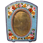 Lovely Blue Micro Mosaic Photograph Frame, Table-Top