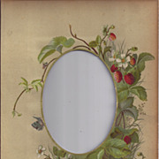 SALE Lovely Chromolithograph Page - Victorian Album, Cabinet Photo, Strawberries