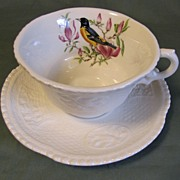 SALE Lovely Ironstone Cup & Saucer, Royal Cauldon, Baltimore Oriole
