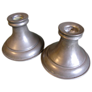 REDUCED Vintage Pewter Candlesticks (Candle Holders) Marked