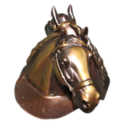 Lovely Horse Head Bronze Bookends, Philadelphia Manufacturing Co. CA 1950