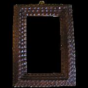Antique 4-Layer Chip Carved Tramp Art Frame
