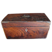 REDUCED Very Early Mahogany Veneer Box, Originally A Tea Caddy