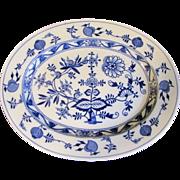 SALE Lovely Blue & White Oval Platter, MEISSEN, Brown-Westhead, Moore, 1862+