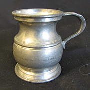 REDUCED Vintage Bulbous Pewter Measure 1/2 Gill, Harry Mason